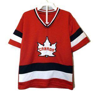 🍁 Canada Hockey Jersey Boys Small (Age 6 Years)